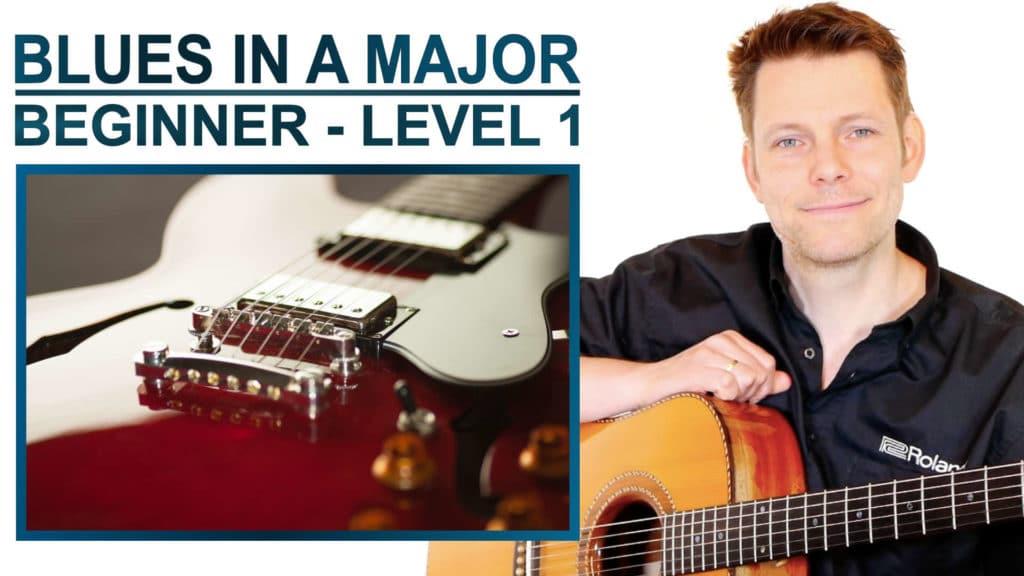 blues in a major beginner level 1