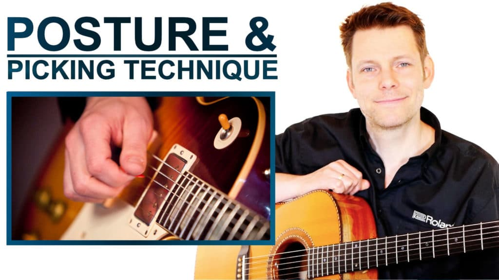 guitar basics posture and picking technique lessons