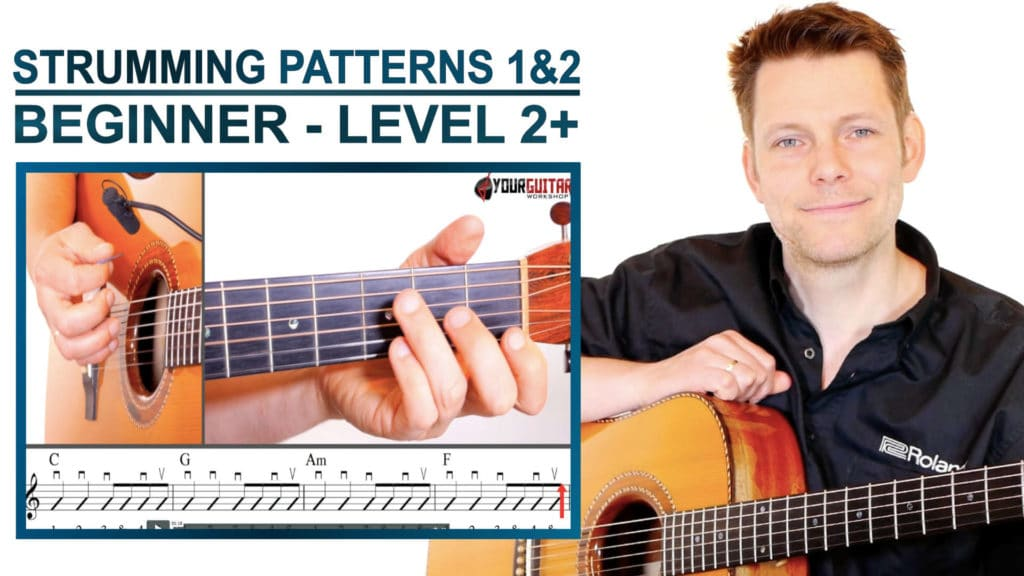 strumming patterns 1 AND 2 beginner level 2